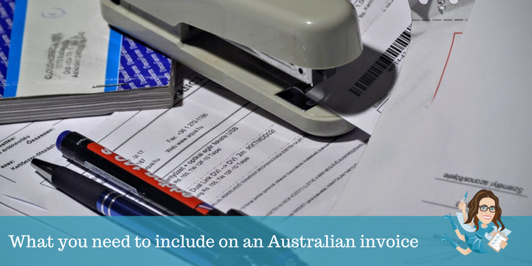 What you need to include on an Australian invoice